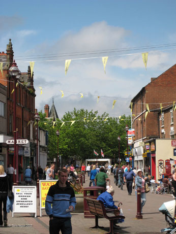 Image of bunting on Long Eaton high street